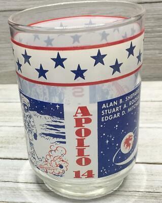 Vintage Souvenir Apollo 14 Alan Shepard Feb 5 1971 Libbey Glass Tumbler
