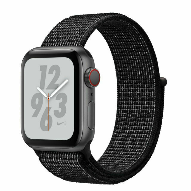 Apple Watch Series 4 Nike 44 Mm Space Gray Aluminum Case With Black Nike Sport Loop Gps Cellular Mtxd2ll A For Sale Online Ebay