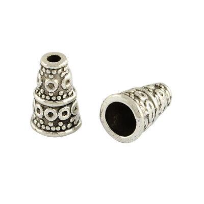 20 Metallperlen Antik Tibet Silber 6mm Zwischenteil für Schmuckherstellung F123