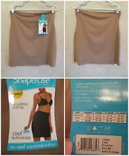 SHAPERCISE 2XL 16-18 Cafe Brown Cool Smoothing Wicking Light Control Half Slips