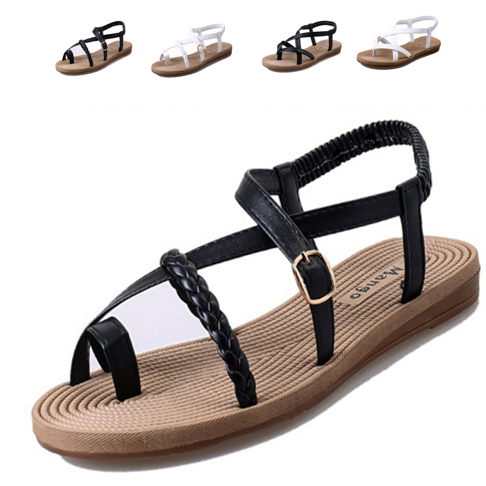Women Thong Flip Flops T-Strap Gladiator Thong Women Sandals Strappy Shoes Beach Bohemia 7f0e78