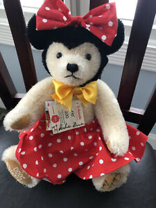 DISNEY Minnie Mouse TEDDY BEAR 175/250 RARE HERMANN 2000 WDW CONVENTION New