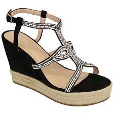 aeca0065704 item 3 Ladies Platform Rope Sandals Womens Espadrilles Wedge Strap Diamante  Shoes New -Ladies Platform Rope Sandals Womens Espadrilles Wedge Strap  Diamante ...