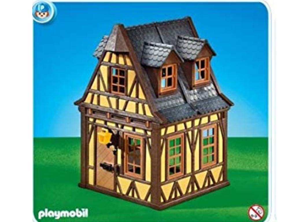 Playmobil nr 7379 geel huis zwart dak yelow house 7847 7785 3666 7109 new
