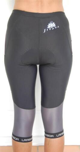 4XL// JIVANA Ladies Women Cycling Bike Knicks 3//4 pants shorts black XS