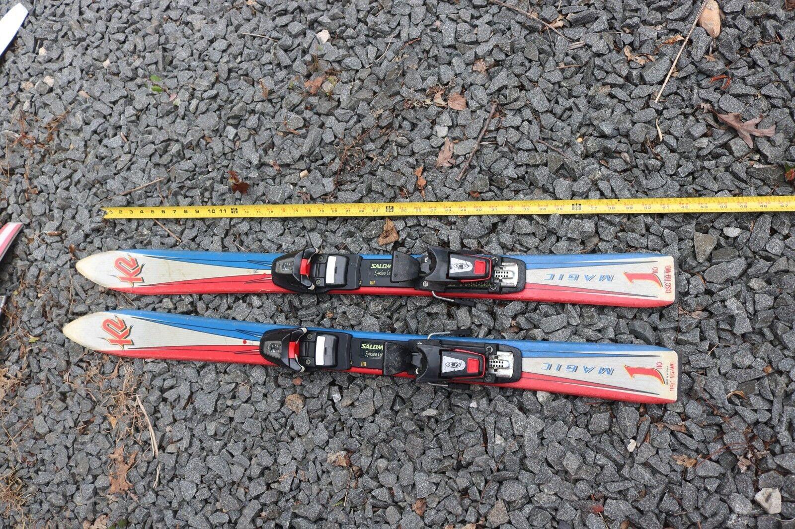 """K2 Magic J Salomon Synchro Center 300 Bindings Skis - Length 41"""""""