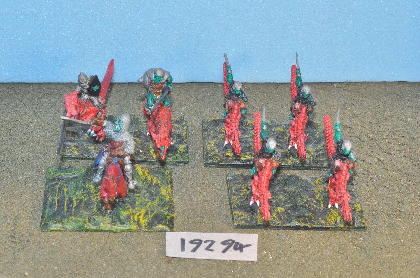 Fantasy Sigmar   - orc ork lizard cold one cavalry 7 metal citadel - (19294)
