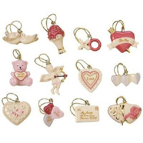 Lenox Be Mine Valentine 12 Ornaments Valentine S Day No Tree Ebay