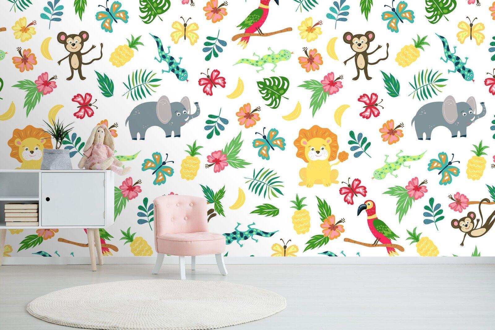 3D Farbe Animals World 42 Wallpaper Murals Wall Print Wallpaper Mural AJ WALL UK