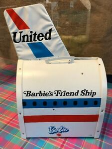 Vintage-Barbie-United-Airlines-Friend-Ship-Fold-Out-Play-Plane-Carry-Case-Vinyl