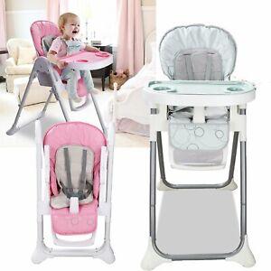 Kinderstuhl-Babystuhl-Hochstuhl-Verstellbar-klappbar-Esszimmer-Kindersitzgruppe