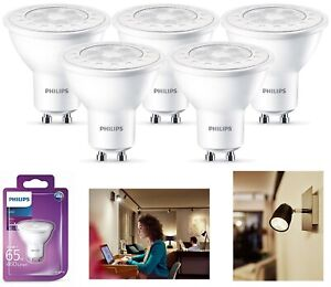 Philips-LED-Light-Bulb-White-Lamp-Ceiling-Reflector-GU10-65-Watt-A-Energy-Class