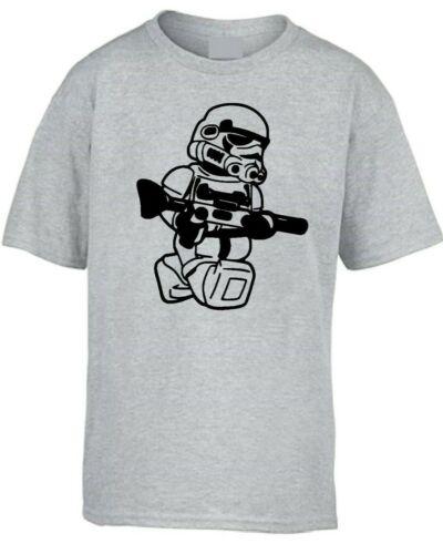 Kids Boys Girls LEGO TROOPER T-Shirt storm wars jedi vader star yoda funny top