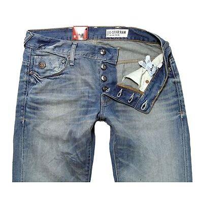 G-Star Herren Jeans Heller Low Straight Light Aged NEU Hose