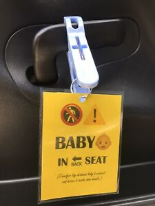 Baby In Car Reminder Tag Hyperthermia  Hot Car Death Prevention