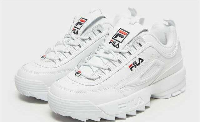 FILA Disruptor II Premium Women's Sneakers WhiteFILA NavyFILA Red, 10 M US