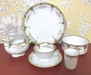TEA-SET-FOR-ONE-NORITAKE-JAPAN-ART-NOUVEAU-STYLE-HAND-PAINTED-VINTAGE