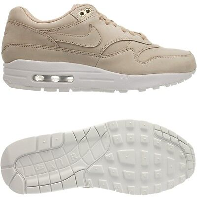 Nike Air Max 1 PRM women's low top sneakers beigewhite casual shoes suede NEW | eBay