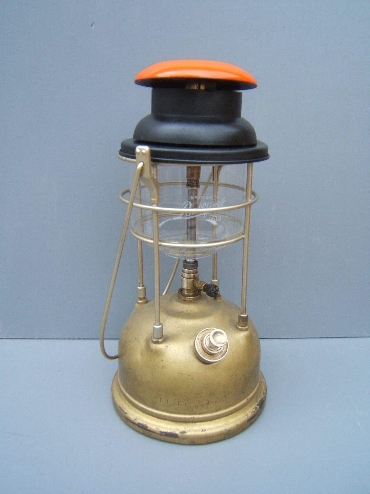 Tilley lamp 246  oil lamp orange original Tilley glass  ref TL25