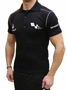 Tee-shirt-fait-main-Renault-Sport-LOGO-COLLIER-BRODE-Polo-homme-en-coton-COLLET