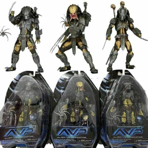 "NECA Alien vs predator avp SERIE MASCHERATO Cicatrice Celtic Predator Action Figure 7/"""