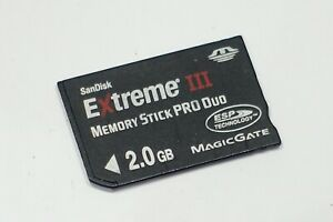 Sandisk Extreme III 2GB Memory Stick PRO Duo memory card for Sony camera or PSP
