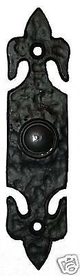 FDL Rustic Style Door Bell Push Switch Black Cast Iron SPECIAL OFFER 37160