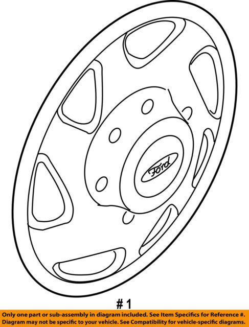 Ford Oem 05 14 E 350 Super Duty Wheels Cover F8uz1130aa