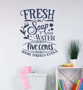 Bath Wall Decorations Soap Water 5 Cents Bathroom Wall Art Decals Stickers Ebay