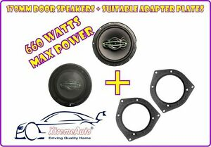 Front-Door-amp-Rear-Speakers-Adaptor-Plates-For-Mercedes-A-C-E-Class-CLK-SLK