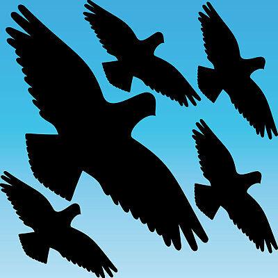 Warnvogel Set L Schwarz Habicht Aufkleber Tattoo Vogel Fenster Glas Schutz Folie GroßEs Sortiment