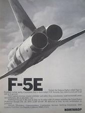 5/1976 PUB NORTHROP F-5E TIGER II INTERNATIONAL FIGHTER US AIR FORCE USAF AD