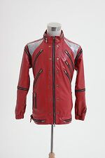 "Michael Jackson ""Beat It"" Thriller Red Zipper Jacket Costume Cosplay Tailored"
