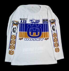 Details about Husqvarna Husky T shirt vintage racing motocross jersey retro  x cr fox scott jt
