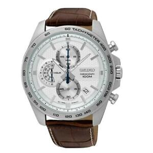 Seiko-Chronograph-Leather-Strap-Mens-Watch-SSB263P1