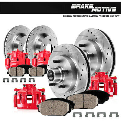 Rear 348 mm Brake Rotors And Metallic Pads For FORD F150 MARK LT 4X4 4WD 2WD