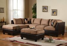 Outstanding Bobkona Manhattan Reversible Microfiber 3 Piece Sectional Pabps2019 Chair Design Images Pabps2019Com