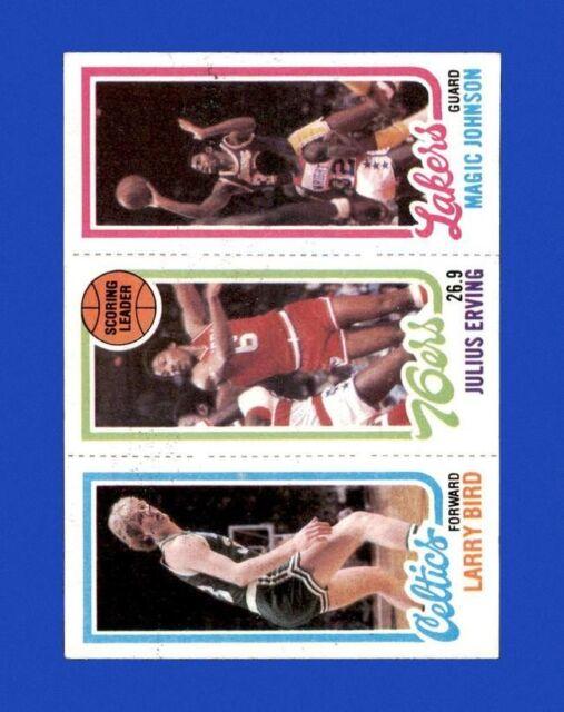 1980-81 Topps Set Break Magic Johnson Larry Bird Rookie EX-EXMINT *GMCARDS*
