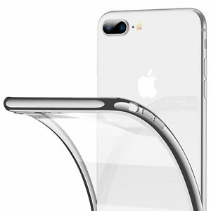 COVER PER IPHONE 8/7/7 PLUS APPLE TRASPARENTE MORBIDA CUSTODIA