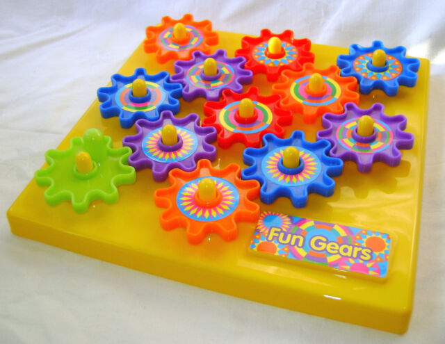 NEW FUN GEARS COLOURFUL BABY TODDLER ACTIVITY  TOY WITH MOVING COGS RSW PS242