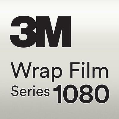 3M 1080 S120 Satin White Aluminum 5ft x 1ft W//Application Card Vinyl Vehicle Car Wrap Film Sheet Roll