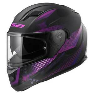 LS2-Stream-EVO-FF320-Lux-Matt-Black-Pink-Ladies-Full-Face-Motorbike-Helmet