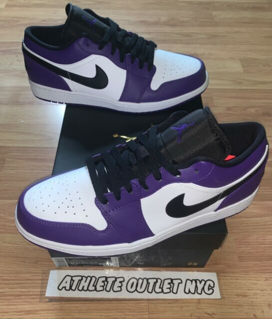 New Nike Air Jordan Retro 1 Low Court Purple Men's Size 12 Sneakers 553558-500