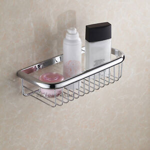 wall mounted corner shelf bathroom storage basket shower caddy tidy rh ebay co uk