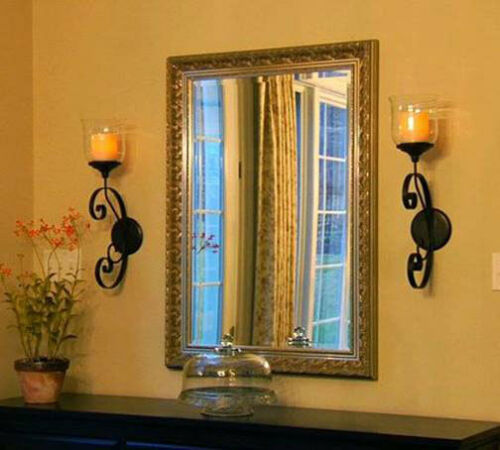 "Candle Impressions Set//2 Windsor Sconce with 4/"" wax Flameless Candle 5 hr timer"