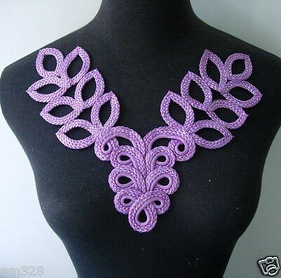 "FM826 5/""X5/""  Silver Corded Sequins Beads Floral Iron On Motifs for bridal Gown"