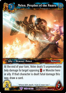 WOW WARCRAFT TCG TOMB OF THE FORGOTTEN : VELEN PROPHET OF