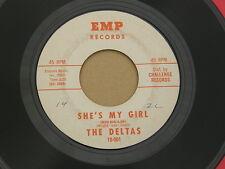 """DELTAS SHE'S MY GIRL EMP orig US GARAGE PUNK MOD INVASION  7"""" 45 HEAR"""