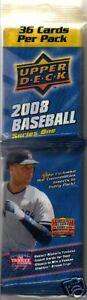 NIB 2008 UD Baseball Series 1 MLB Baseball 1 Fat Pack