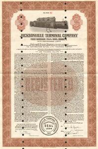 Jacksonville-Terminal-Company-gt-1948-Florida-1000-CSX-bond-certificate